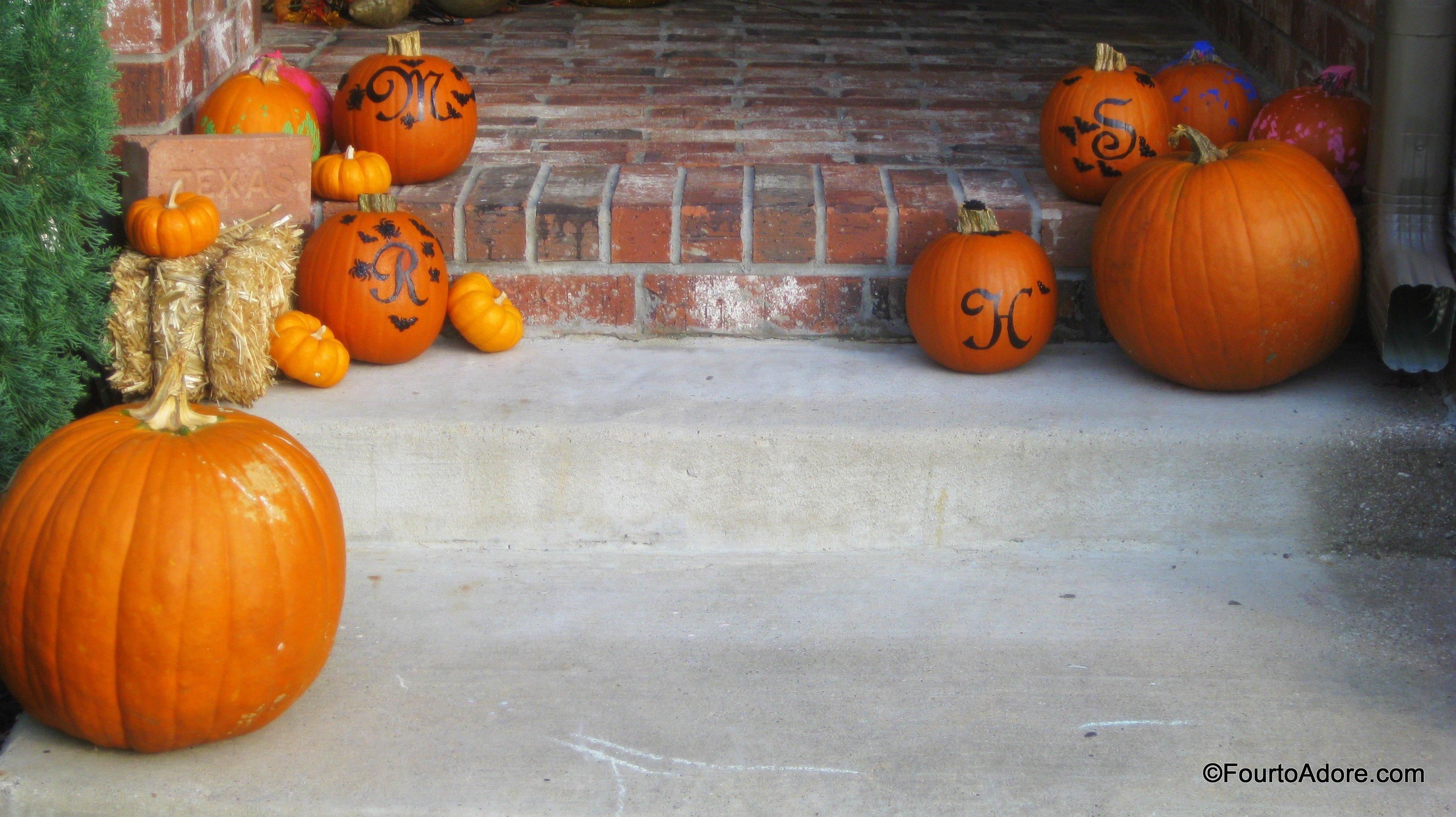 personalized pumpkins  u2013 four to adore