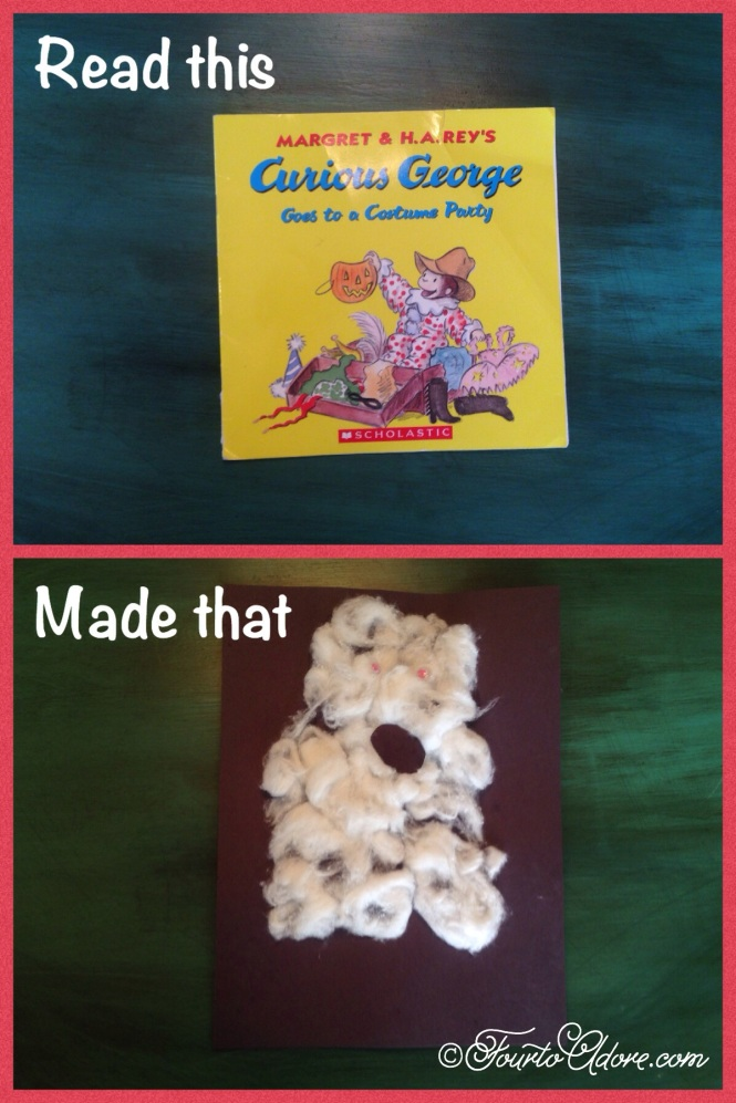 cotton ball ghost toddler craft