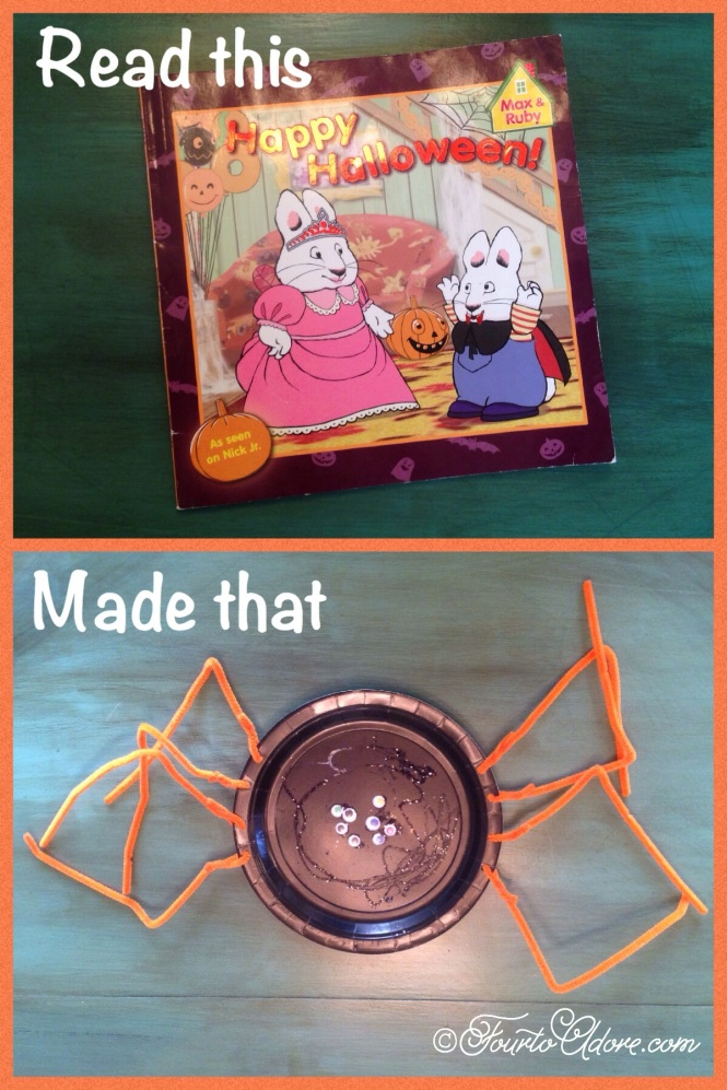paper plate spider with pipe cleaner legs and googly eyes