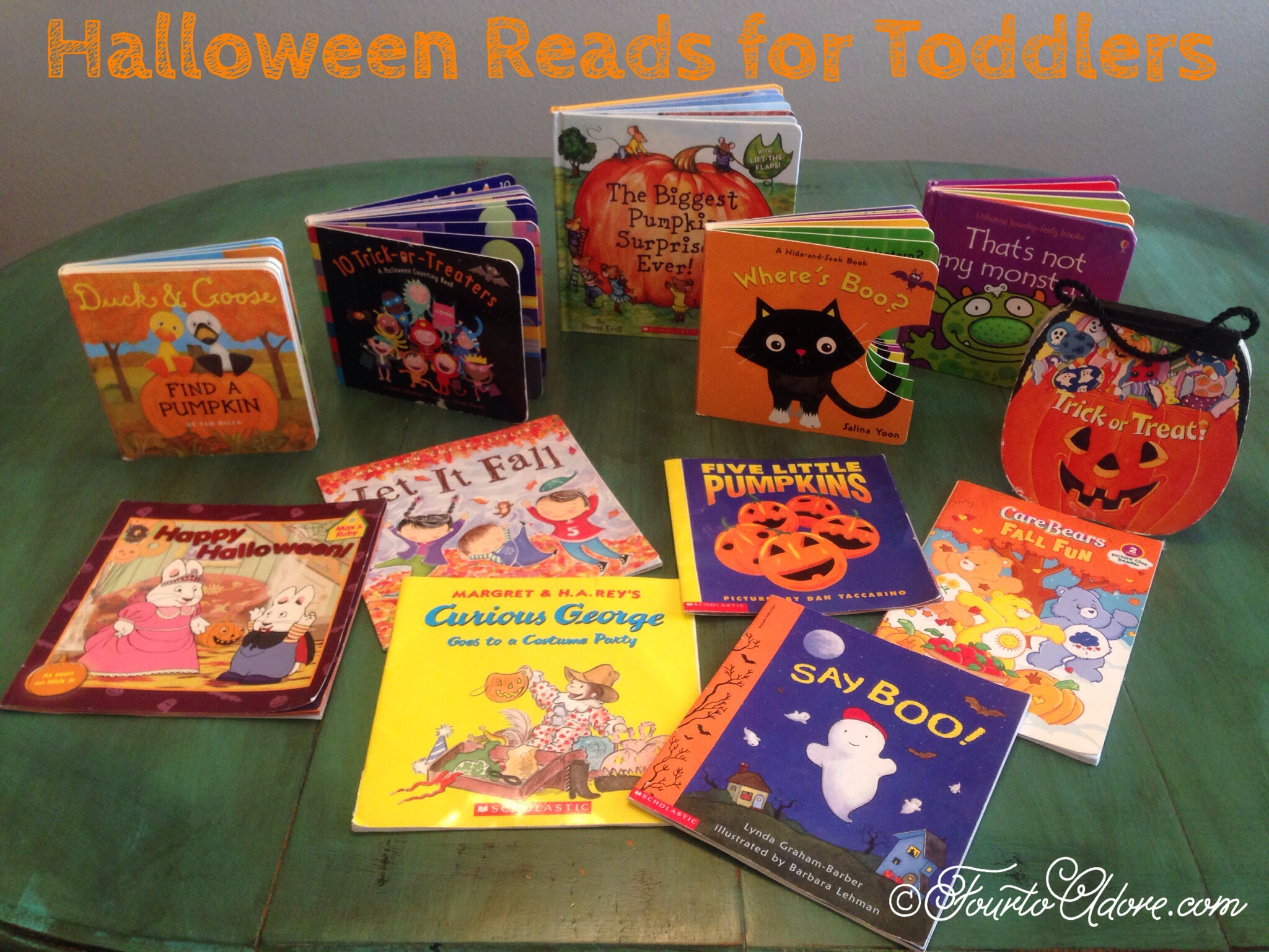 Halloween books for toddlers and preschoolers