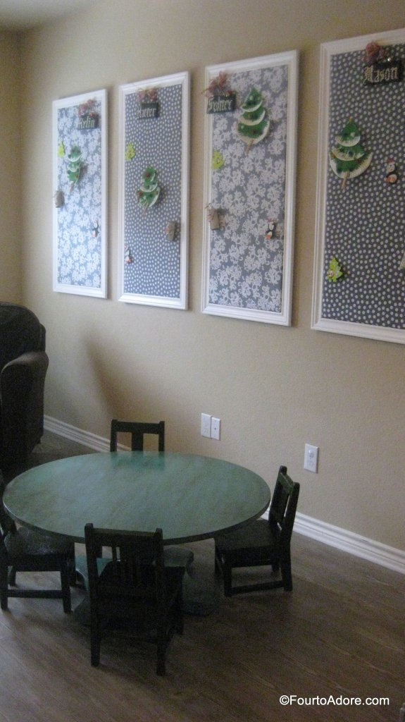 DIY bulletin board display using up-cycled foam puzzles