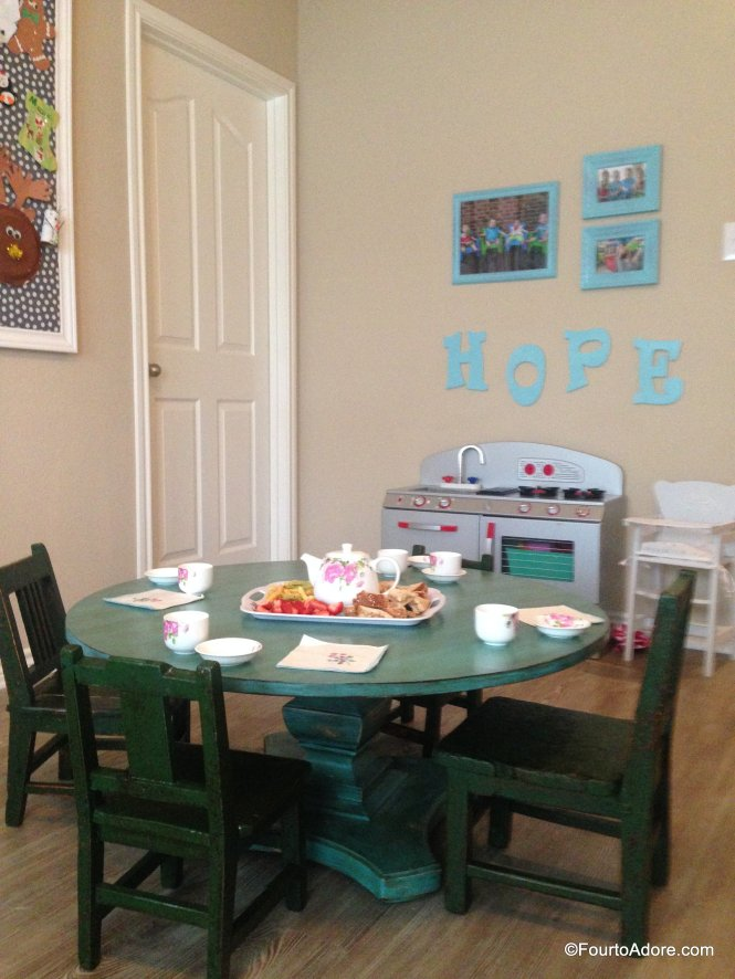 When the kids are sick, throw a tea party for lunch and be sure to serve lemon honey tea!