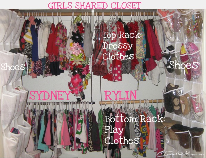 shared closet for two girls