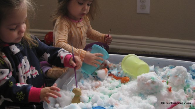 bring snow inside for a sensory experience