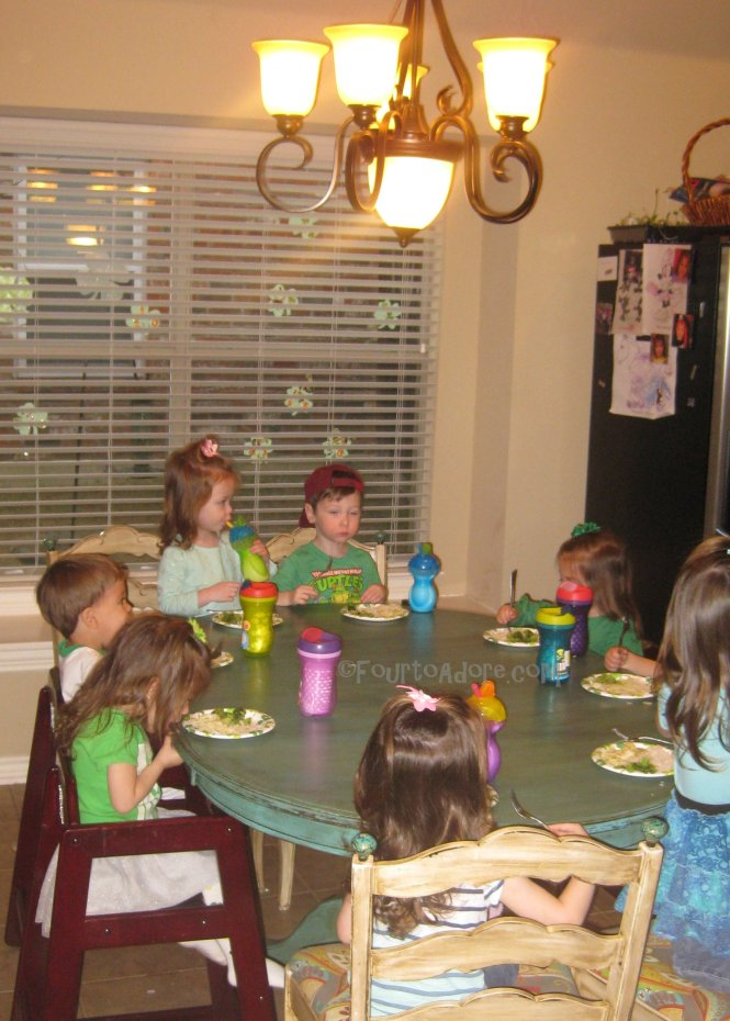 Green Dinner for St. Patty's Day