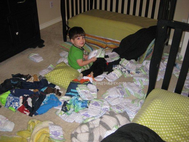 toddler bed mischief