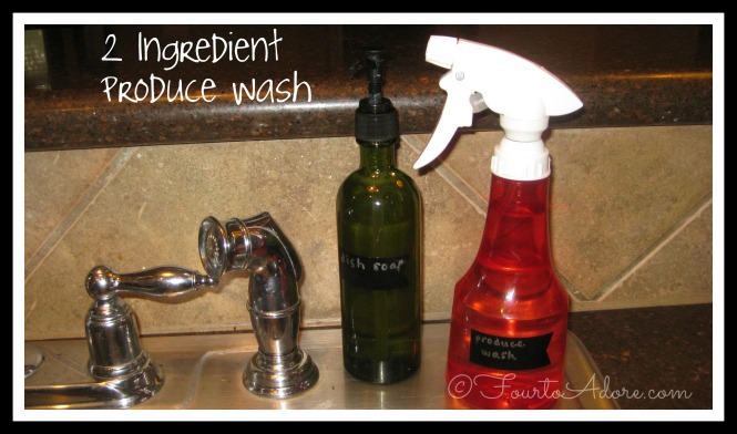 DIY produce wash using vinegar and water