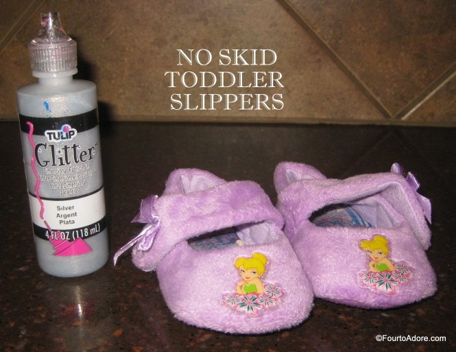 DIY no skid toddler slippers