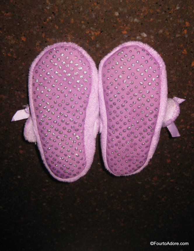 DIY no skid toddler slippers