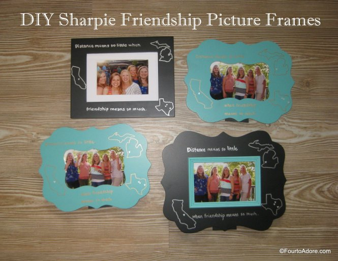 DIY sharpie picture frames