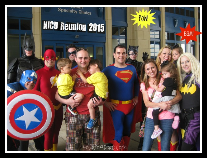 NICU reunion super heroes