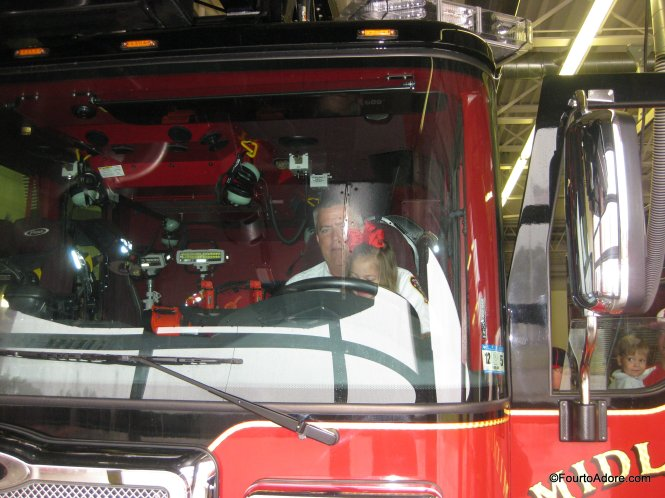 Sydney in the fire truck