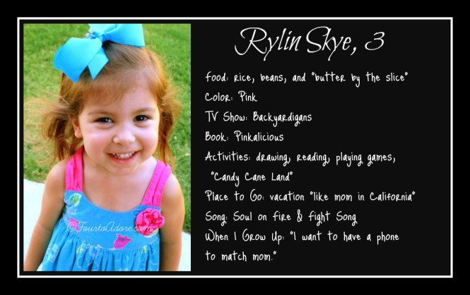 Rylin age 3 interview
