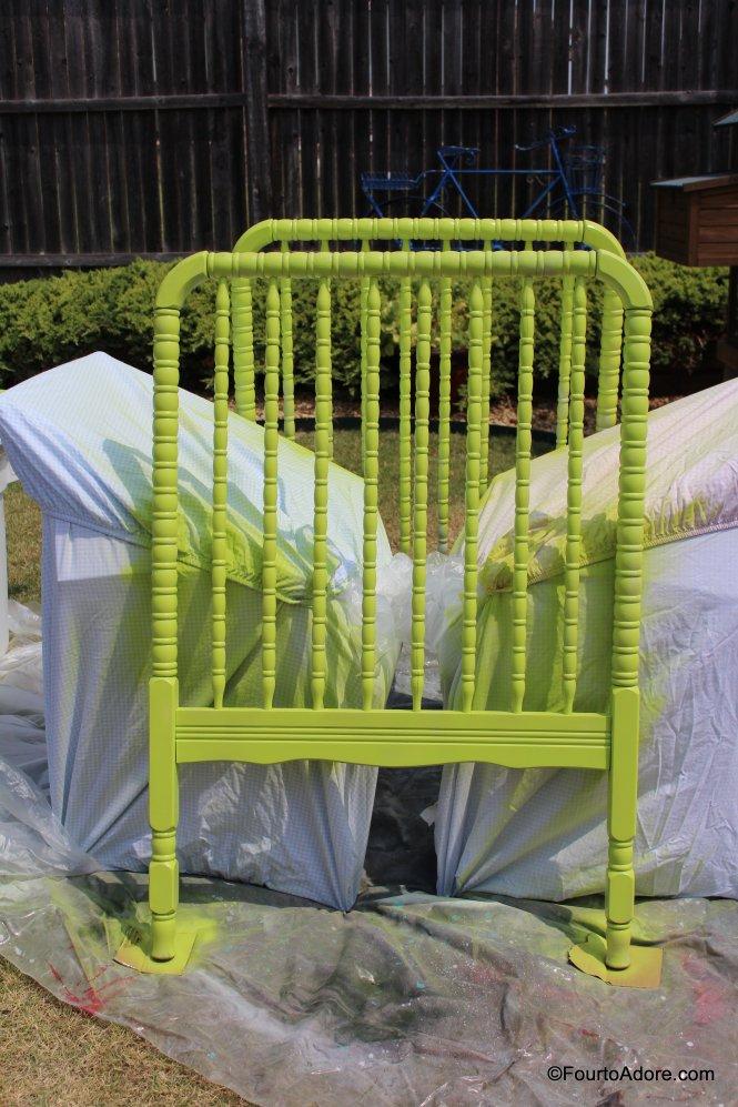 ©FourtoAdore.com Rust oleum Key Lime paint/ primer