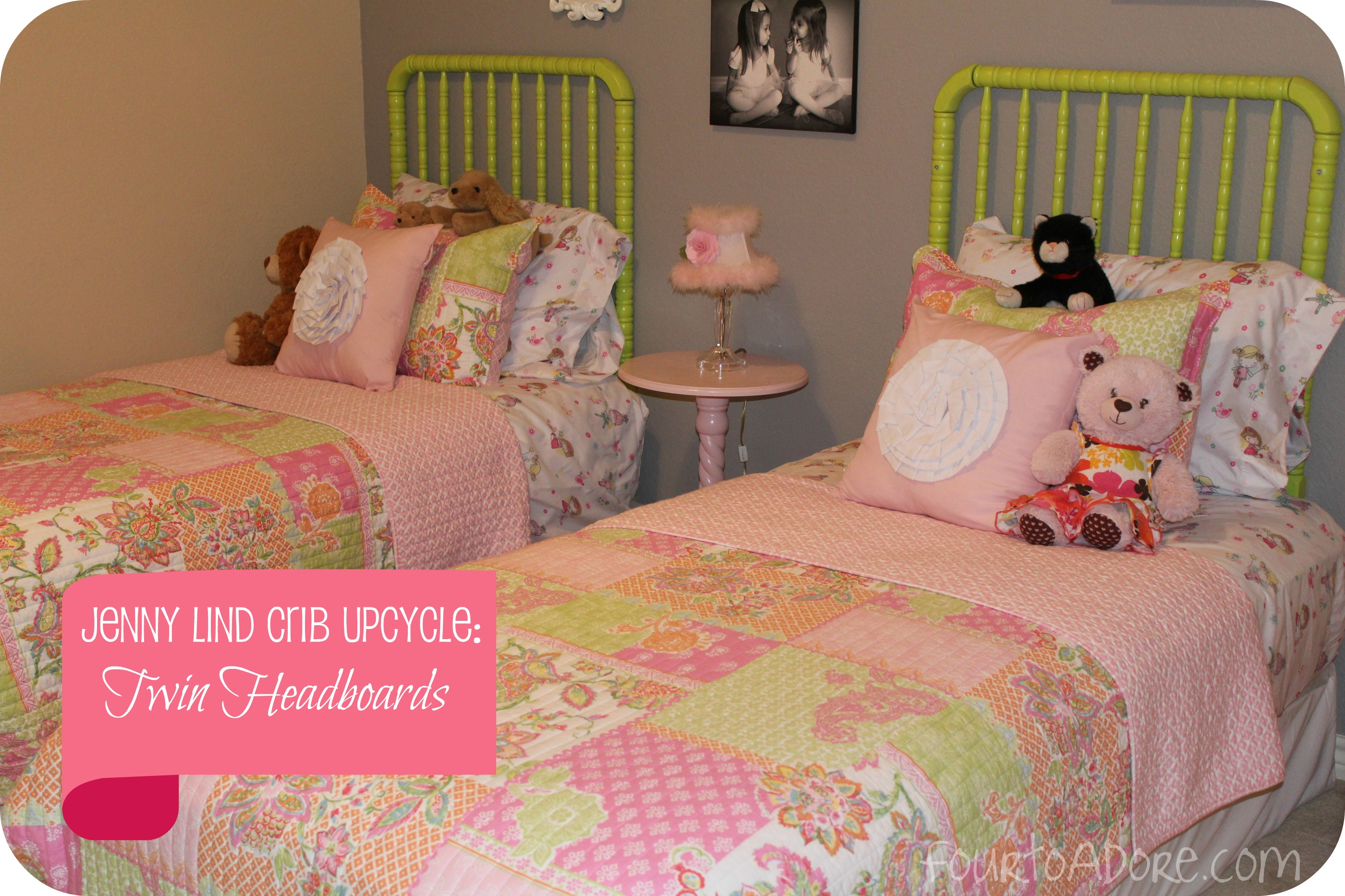 Jenny Lind Crib Upcycle Twin Headboards Four To Adore