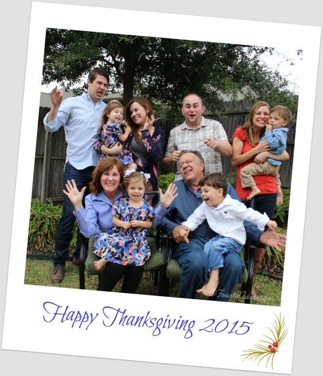 Silly Thanksgiving Family Photo