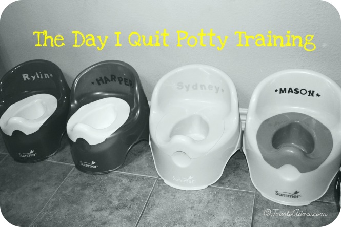 I read all of the books and sought all of the advice before we started potty training. I tought it was do able, but I learned through experience that kids have to be ready developmentally. I was merely presenting the opportunity for them to learn.