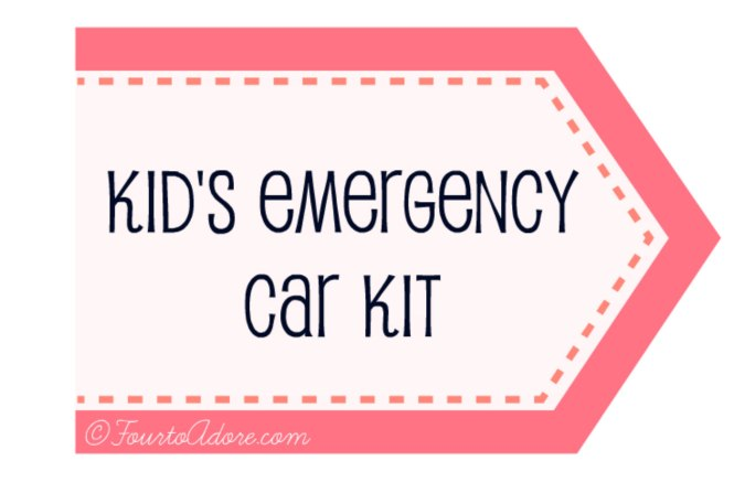 Kid's Emergency Car Kit